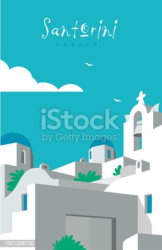 Poster of vivid colors, flat illustration with a simple style. Easy color change