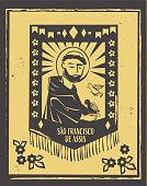 Sao Francisco de Assis ( Saint Francis of Assisi) vector