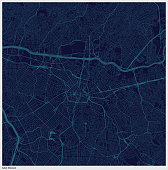 sao paulo city blue structure art map,Brazil