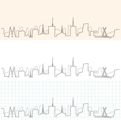 Sao Paulo Hand Drawn Skyline
