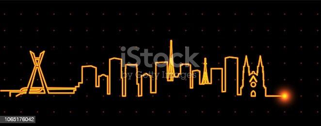 istock Sao Paulo Light Streak Skyline 1065176042