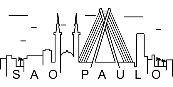 Sao Paulo outline icon. Can be used for web, logo, mobile app, UI, UX