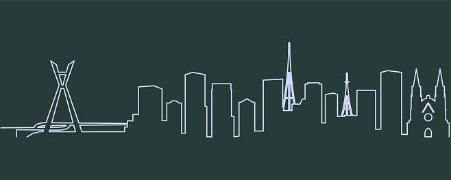 Sao Paulo Single Line Skyline