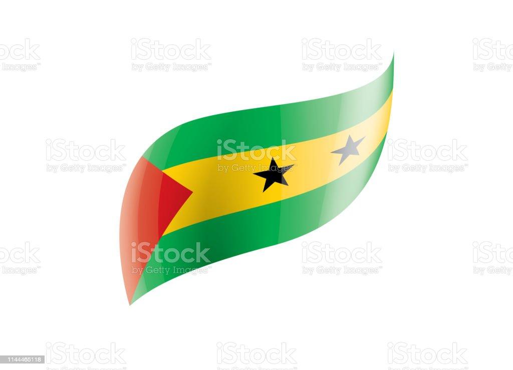 Ilustracion De Bandera De Santo Tome Y Principe Ilustracion