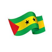 Sao Tome and Principe flag, vector illustration