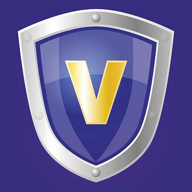 Sapphire shield vector art illustration