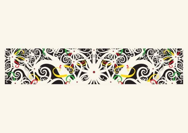 sarawak, iban tribal-art-design - kuching stock-grafiken, -clipart, -cartoons und -symbole