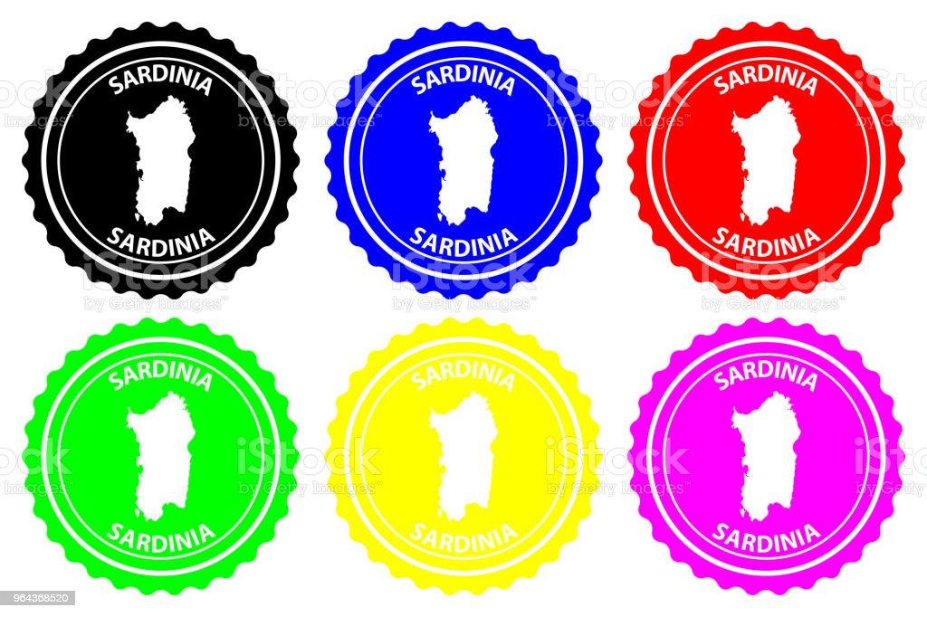 Sardinië Rubberstempel - Royalty-free Badge vectorkunst