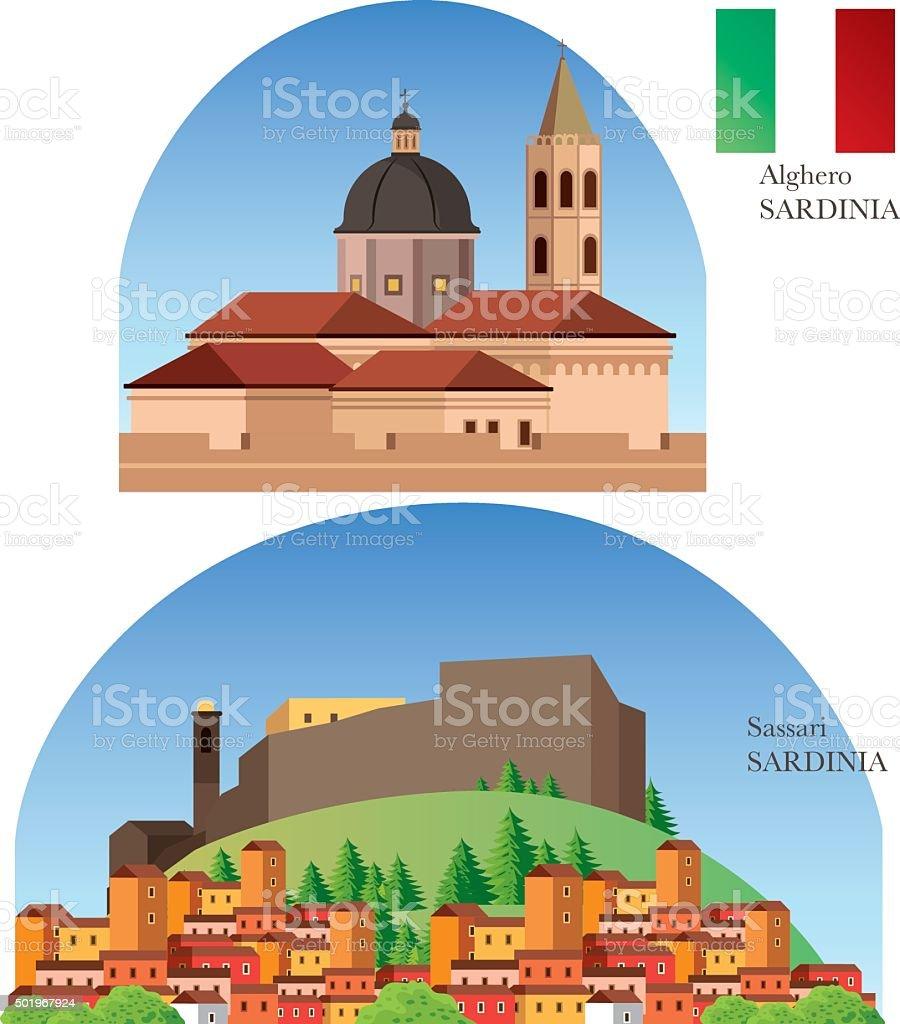 Sardenha - ilustração de arte vetorial