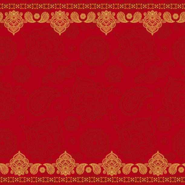 stockillustraties, clipart, cartoons en iconen met sari indiase naadloze patroon - indiase cultuur