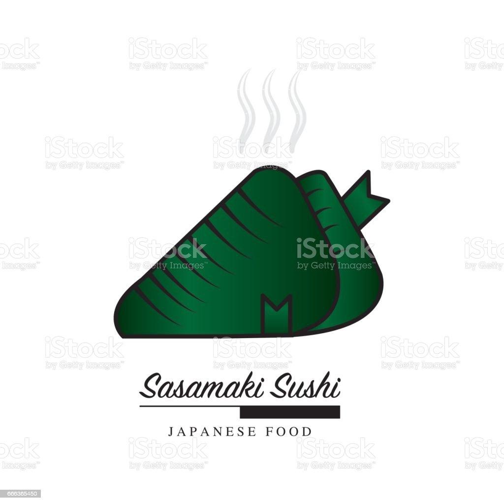 Ilustración de Sasamaki Icono De Comida Japonesa Sushi Con Espacio ...