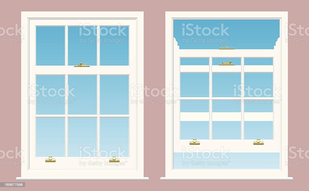 Sash Windows vector art illustration
