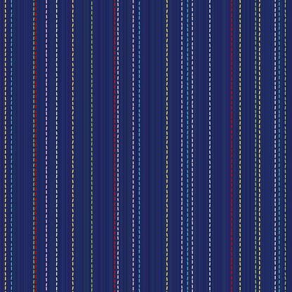 Sashiko motif. Seamless texture. Kimono pattern.