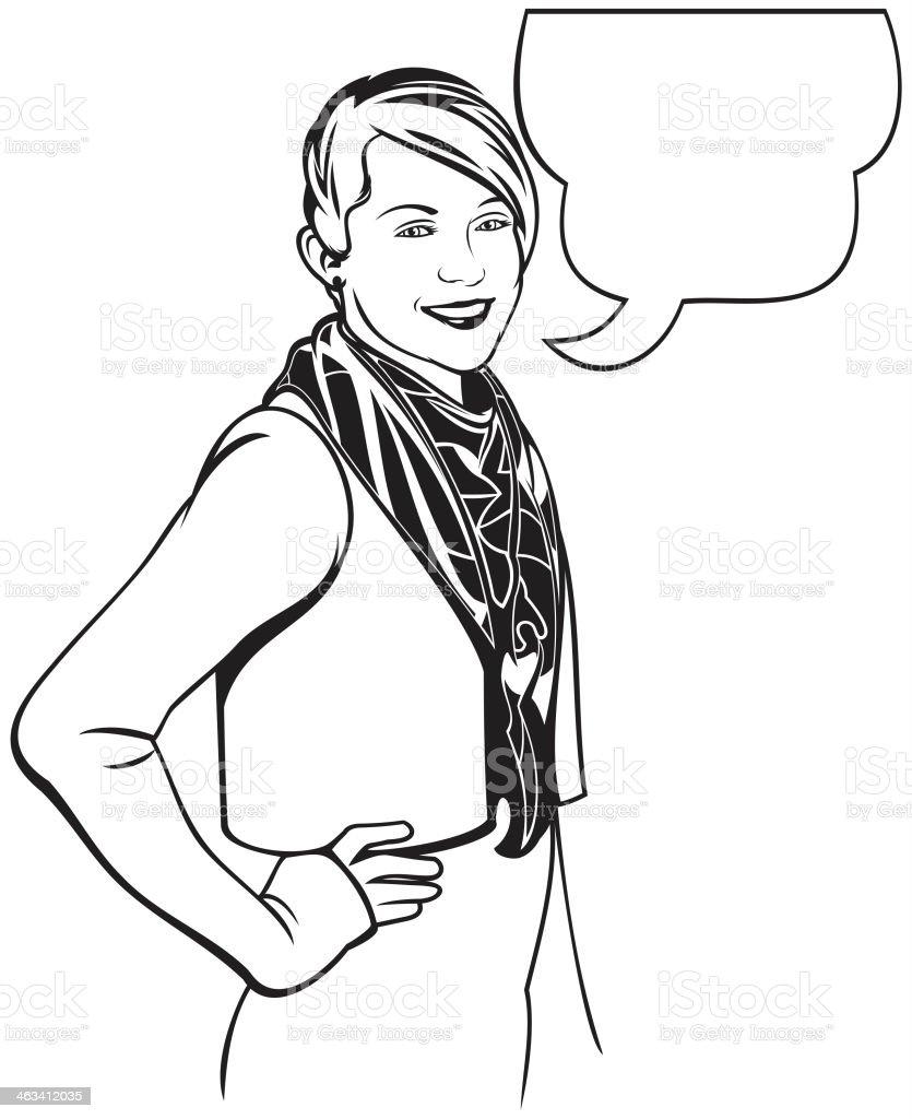 Sassy girl royalty-free stock vector art