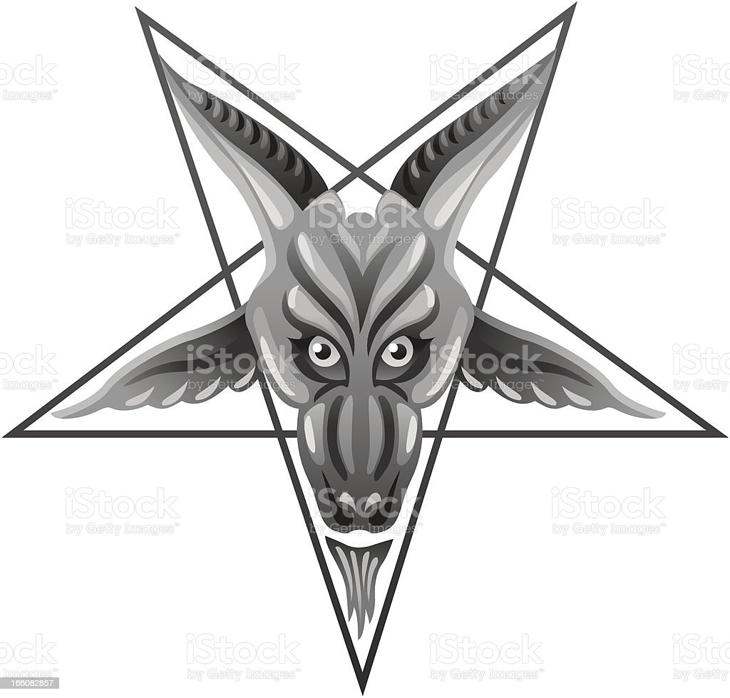 Satanic Pentagram royalty-free stock vector art