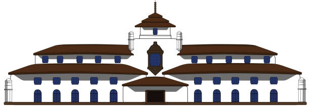 satay house (gedung sate) - gedung sate stock illustrations, clip art, cartoons, & icons