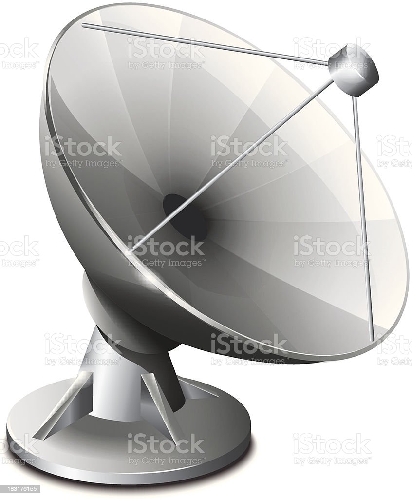 Satellite Antenna royalty-free stock vector art