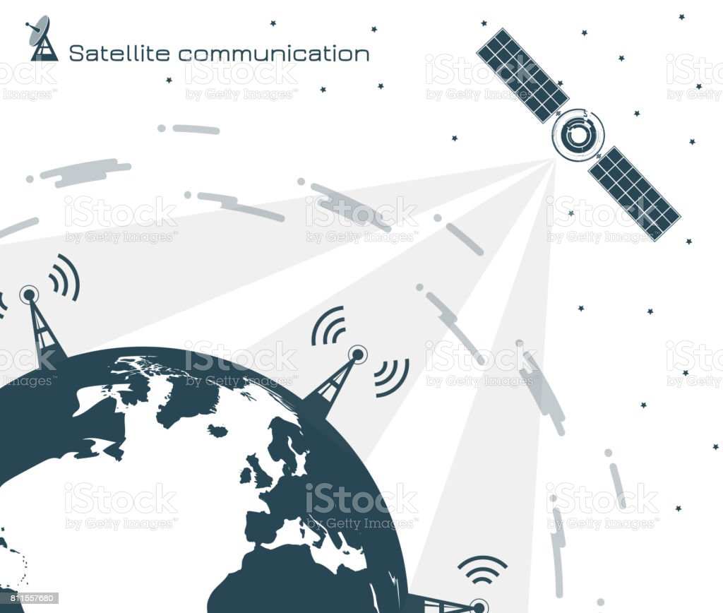 Satellitenkommunikation 2 – Vektorgrafik