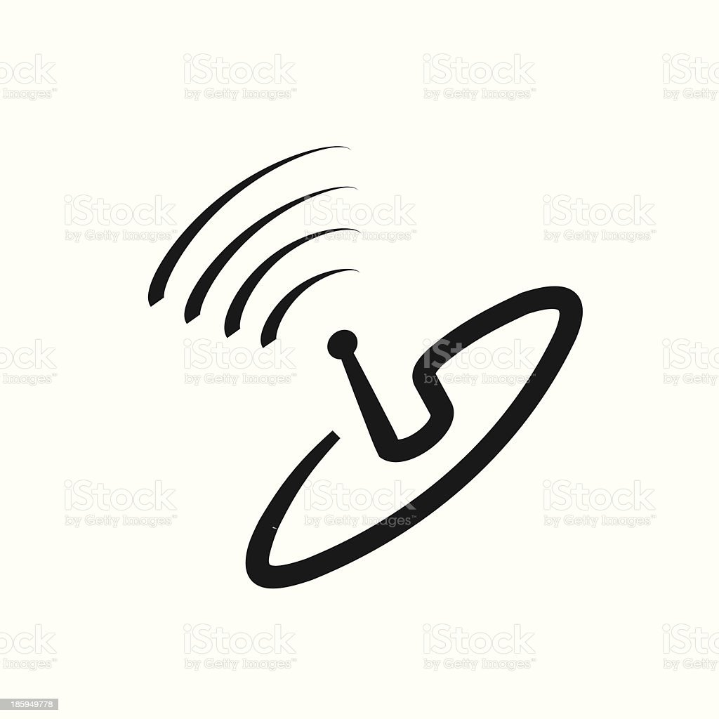 Satellite Dish icon royalty-free stock vector art