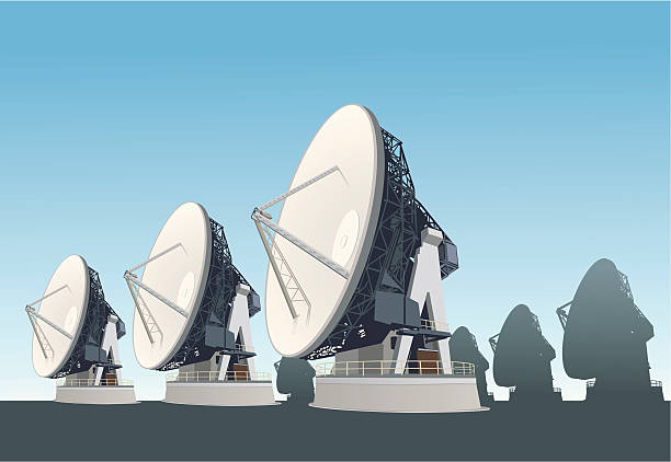 satellite dish - astronomy telescope stock illustrations