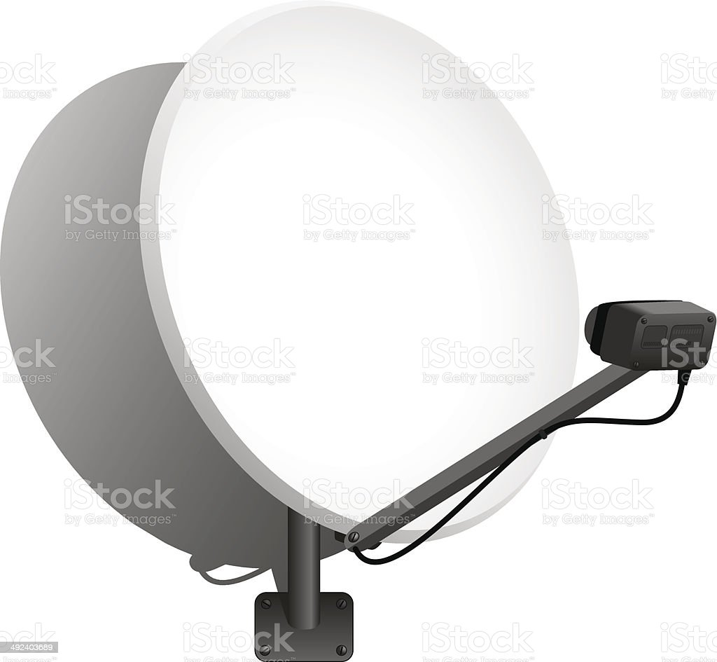 Satellitenschüssel – Vektorgrafik