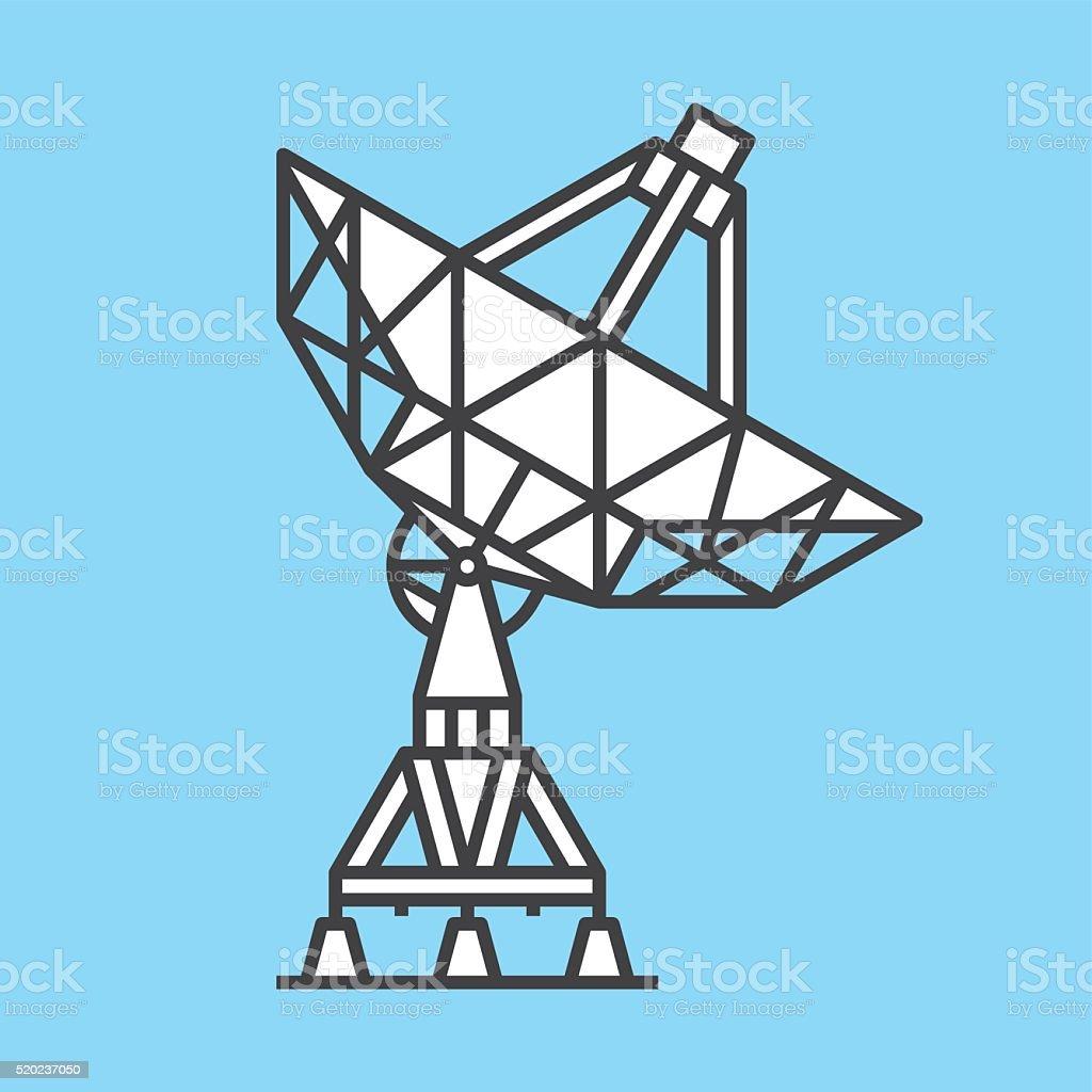 antenne parabolique stock vecteur libres de droits 520237050   istock