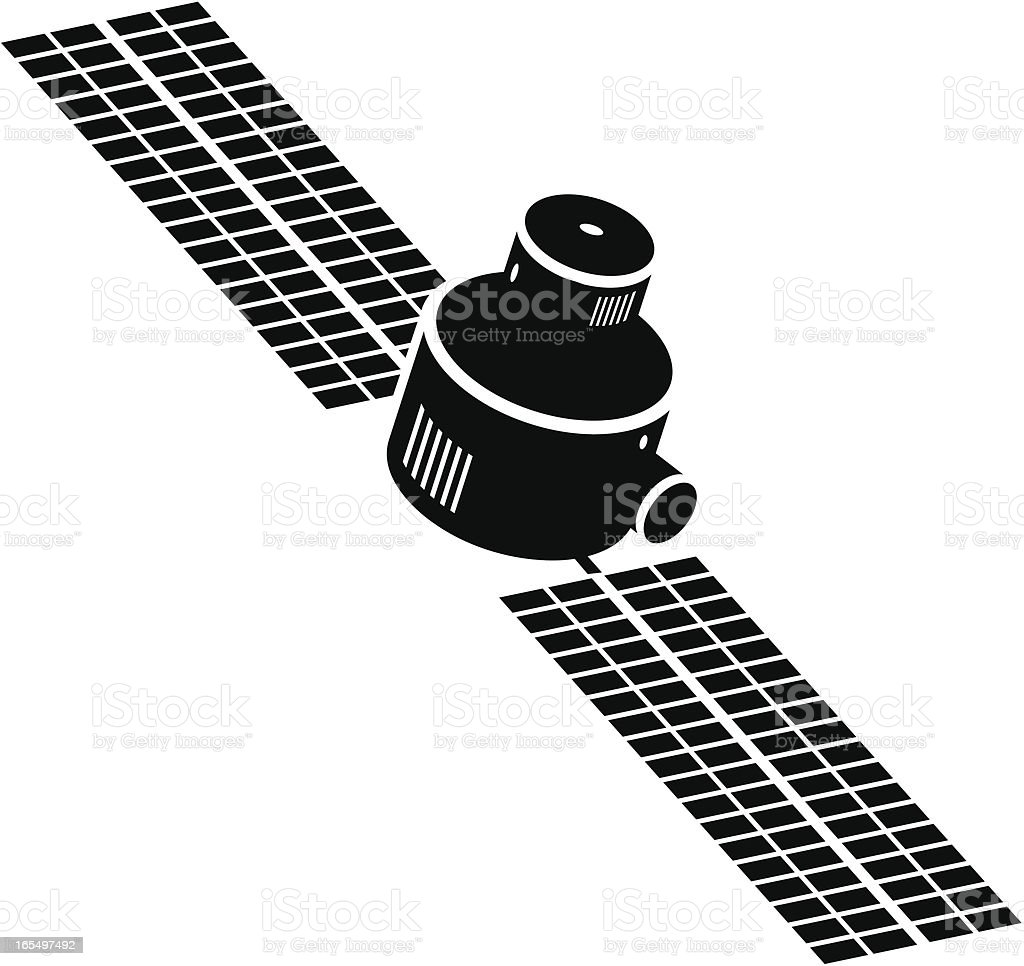 Satellite icon on white background royalty-free satellite icon on white background stock vector art & more images of communication