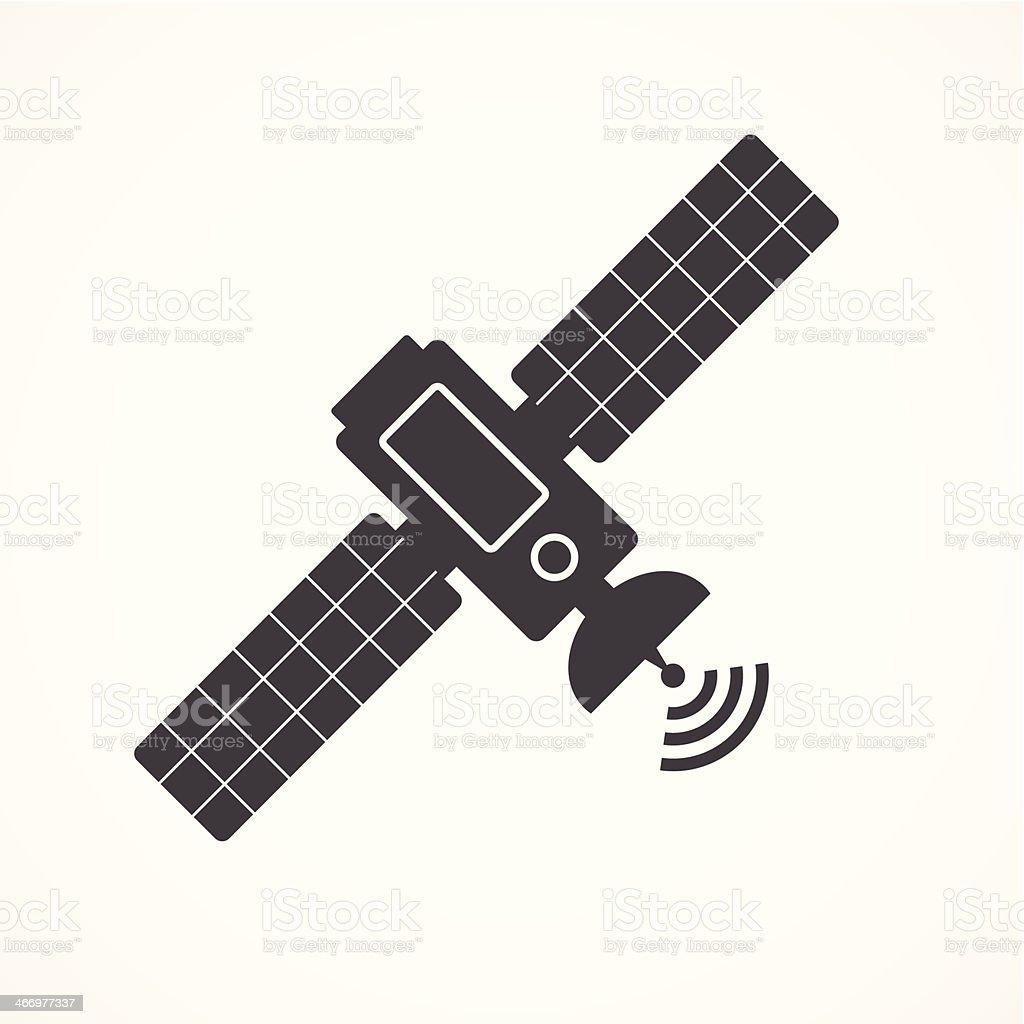 Satellite icon vector art illustration