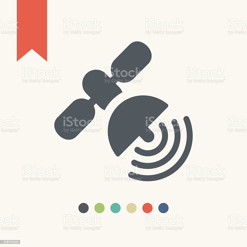 satellite icon vector art illustration