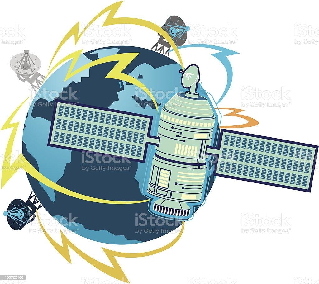 satellite illustration royalty-free stock vector art
