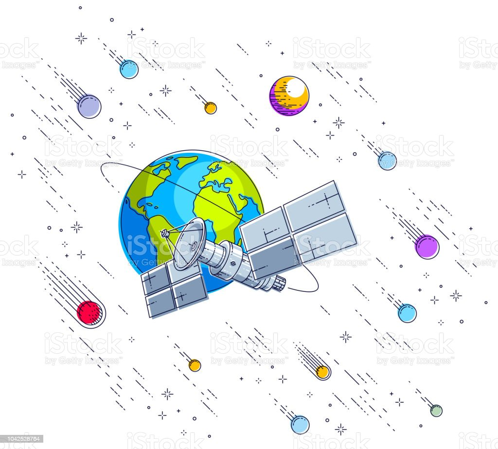 Communication Satellite Obeting Diagram Trusted Schematics Schematic Wiring Whirlpool M Ed22ekxp Orbiting Around Earth Spaceflight Spacecraft