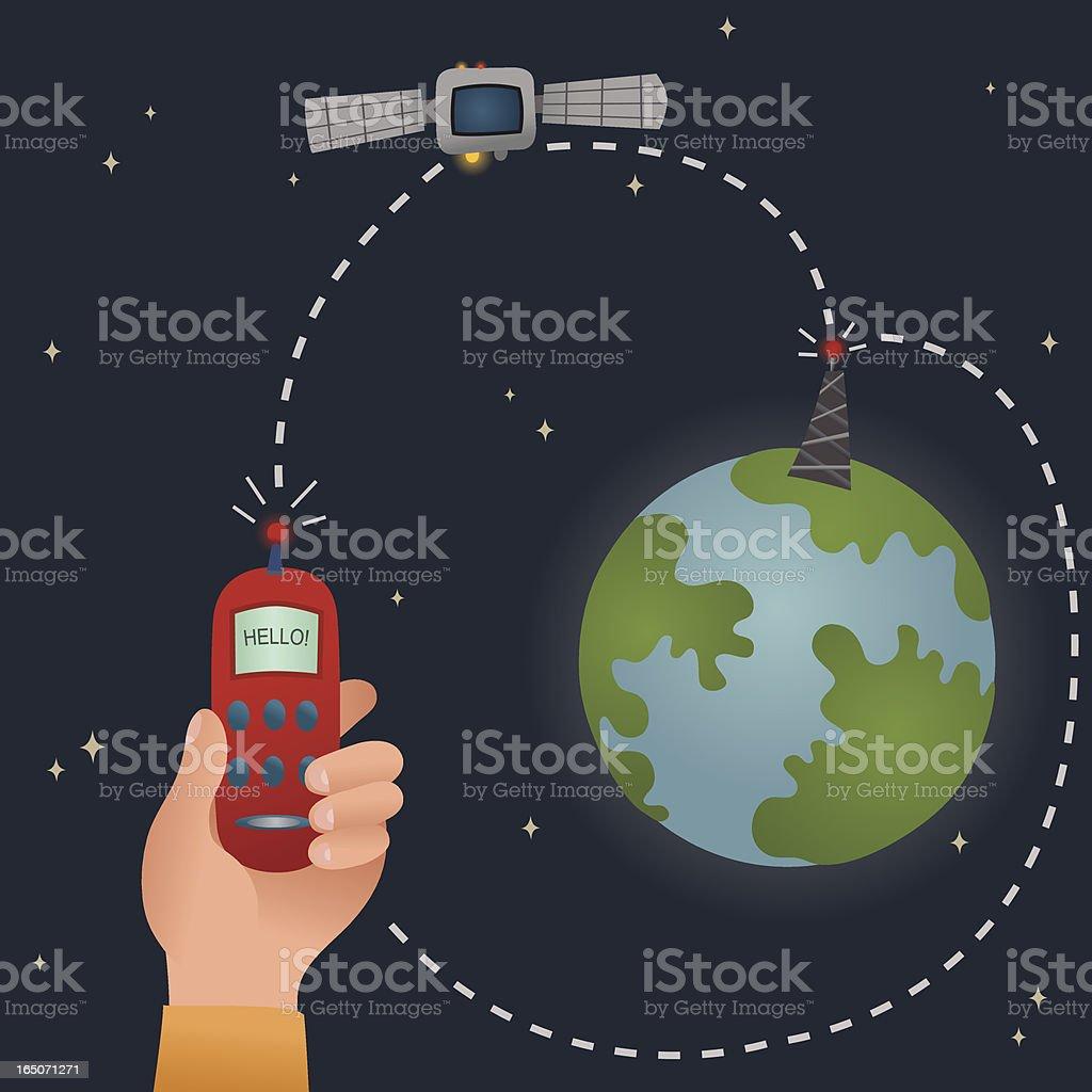Satellite Phone royalty-free stock vector art