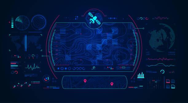 satellite radar - space background stock illustrations