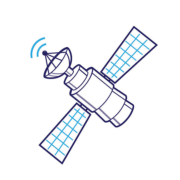 Royalty Free Gps Satellite Clip Art, Vector Images ...