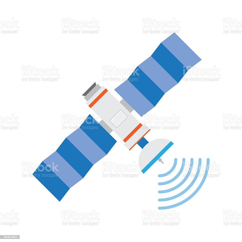 GPS satellite, vector illustration vector art illustration