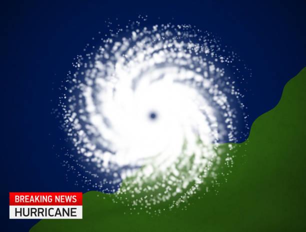ilustraciones, imágenes clip art, dibujos animados e iconos de stock de vista de satélite de un huracán - hurricane