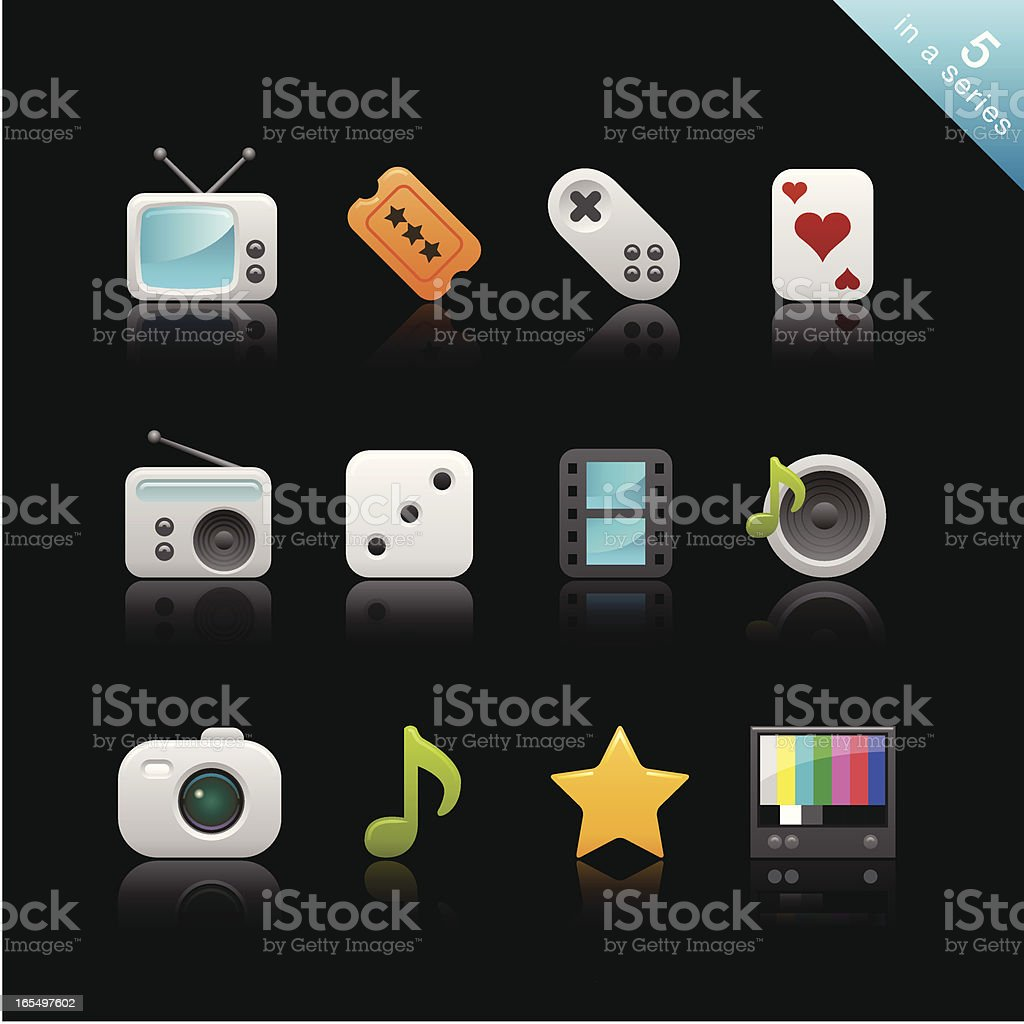 Satin Icons | Set 5 vector art illustration