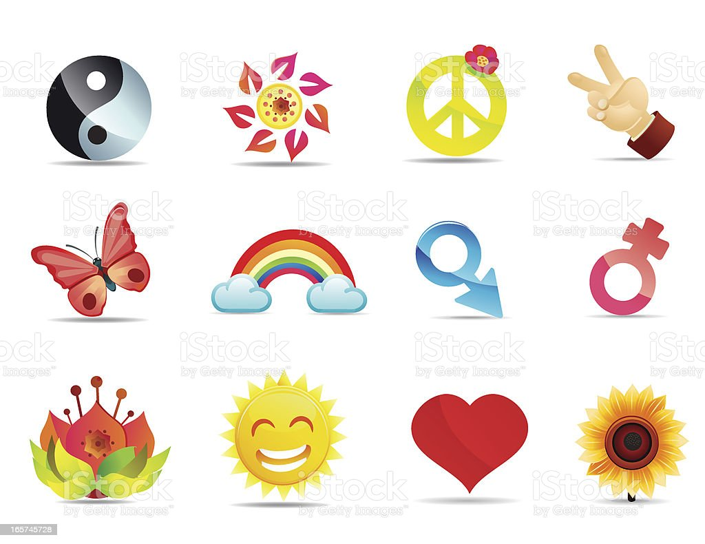 Satin peace and love symbols stock vector art more images of satin peace and love symbols royalty free satin peace and love symbols stock vector art biocorpaavc
