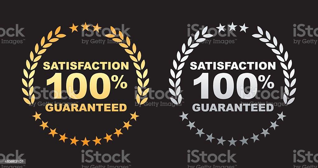 Satisfaction guaranteed 100% label royalty-free satisfaction guaranteed 100 label stock vector art & more images of advertisement