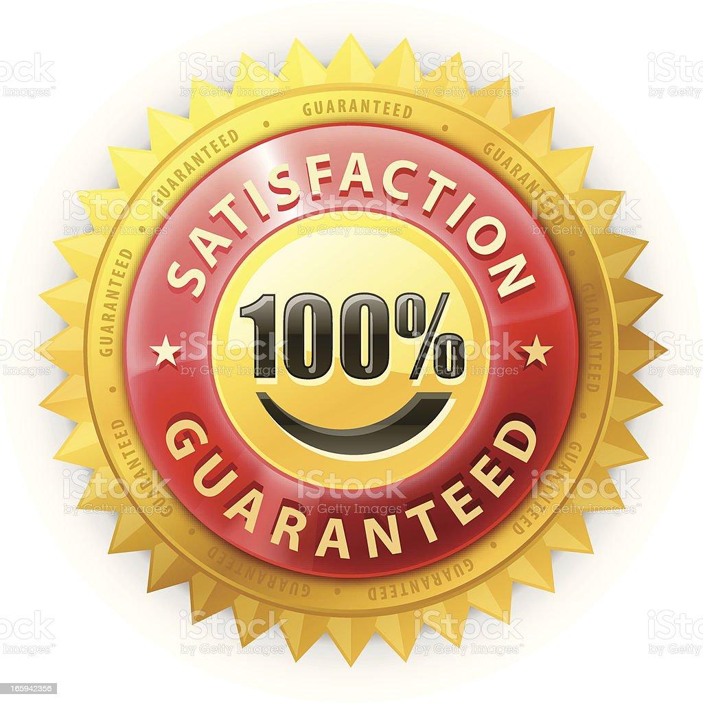 Satisfaction Guaranteed Badge royalty-free stock vector art