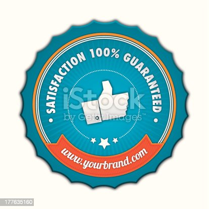 istock Satisfaction guaranteed badge 177635160