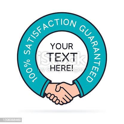 istock Satisfaction Guaranteed Handshake Symbol 1206068460