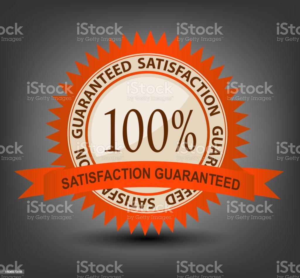 Satisfaction guaranteed label vector illustration royalty-free stock vector art