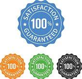 A 100% satisfaction guaranteed seal