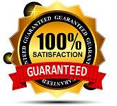 100%  satisfaction label stickers vector illustration
