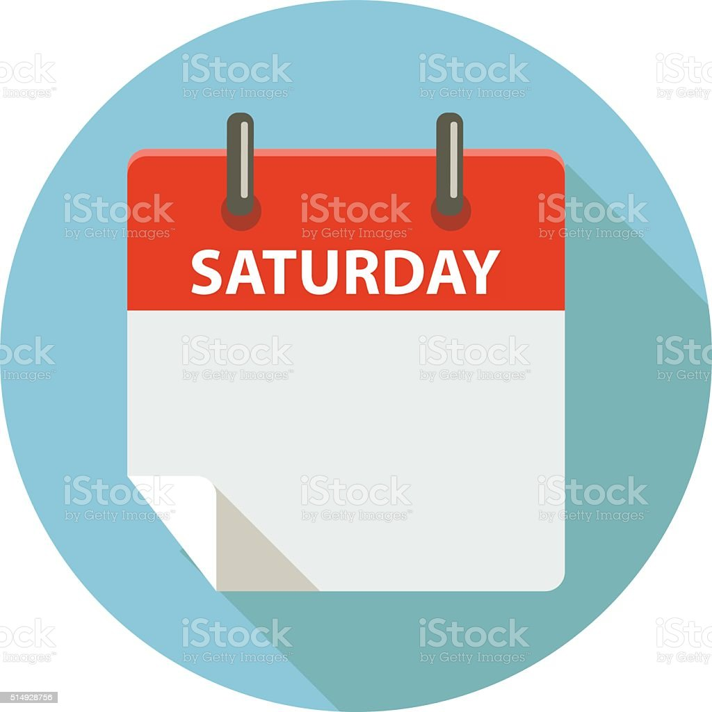 Saturday vector art illustration