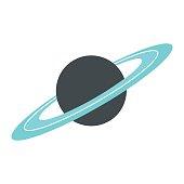 istock Saturn flat icon 638986532