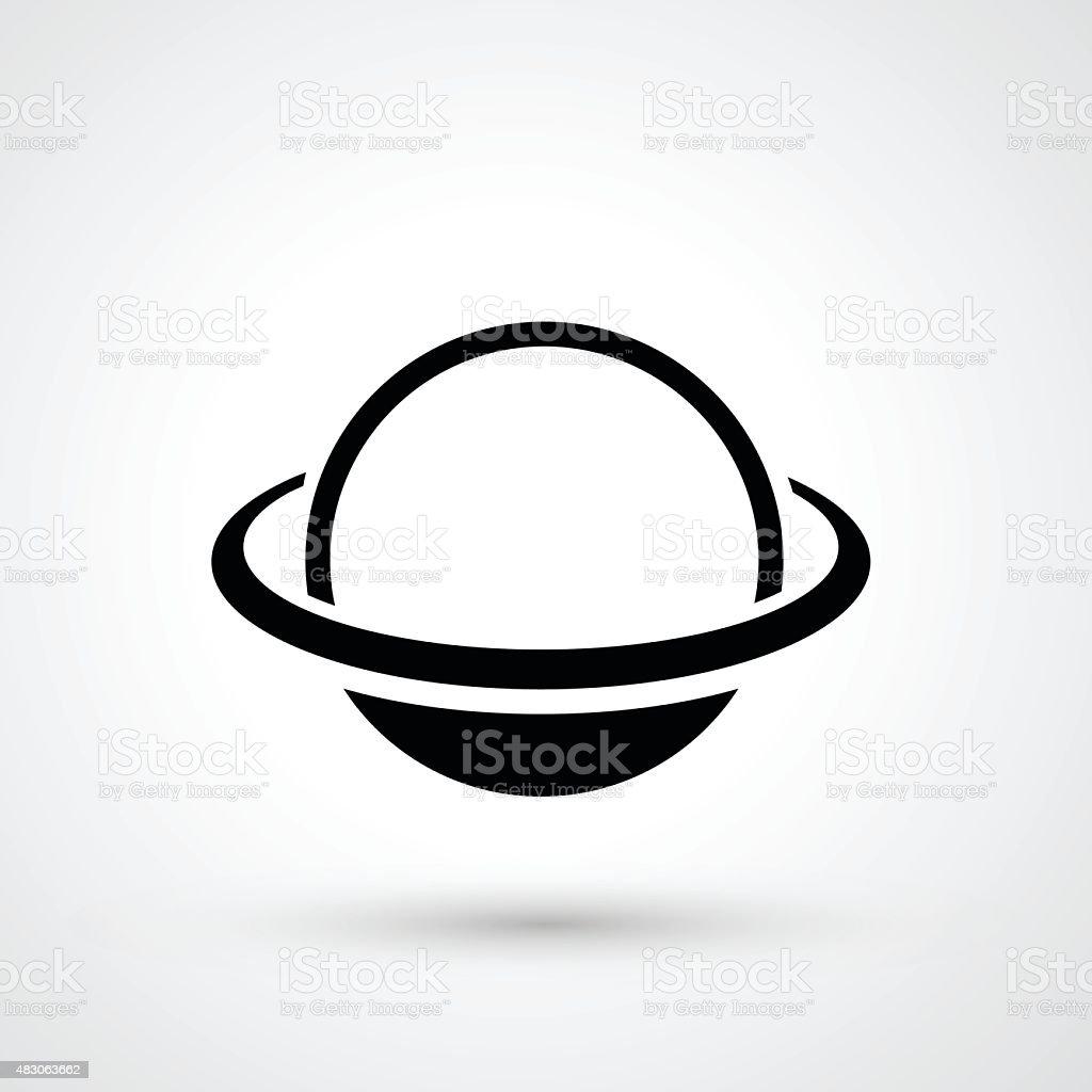 Saturn icon vector vector art illustration