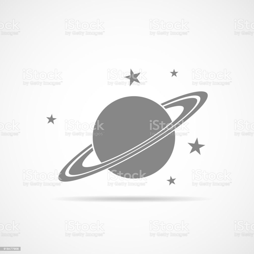 Saturn planet icon. Vector Illustration