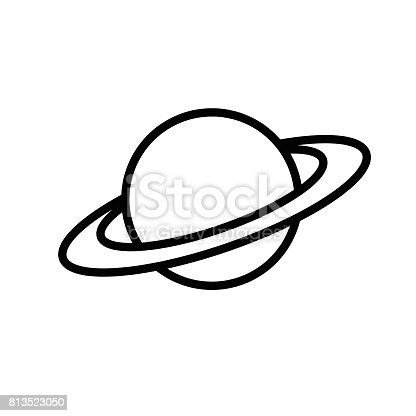 Saturn Symbol Vector Stock Vector Art More Images Of Art 813523050
